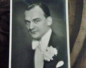 Willi Forst, European Film Star, Original Black and White Photo Postcard, 1930s- 40's, WWII Travel Souvenir, Photo Postcards