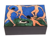Henri Matisse Cat Keepsake Box, La Danse, Large Keepsake Box, Memory Box, Wooden, Pet Memorial, Deborah Julian