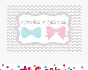 Gender Reveal Party Sign - Baby Shower Decorations - Little Man Little Lady Printable Sign - INSTANT DOWNLOAD Pdf