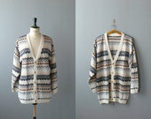 Vintage cardigan. oversized sweater. cotton knit cardi