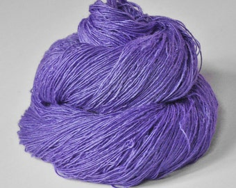 Periwinkle on its way to paradise - Tussah Silk Fingering Yarn