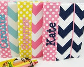 Chevron Crayon Wallet - Design Your Own Chevrons and Dots - Personalization available