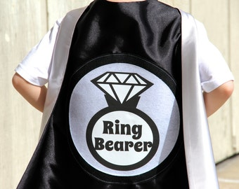 Ring Bearer Gift - Ring Bearer or Flower Girl Cape - Unique Wedding Party Gifts - Customize with favorite colors