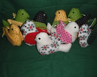 Little Bird Ornament / Bird / Ornament / Fabric Bird / Christmas Ornaments
