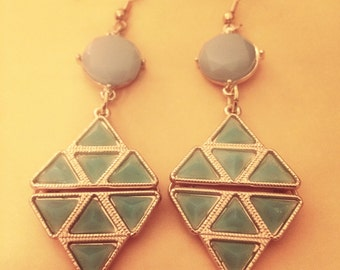 Seafoam Geo Earrings