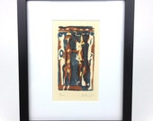 Will Petersen Abstract Mid Century Modern 1970 Signed Numbered Lithograph Print