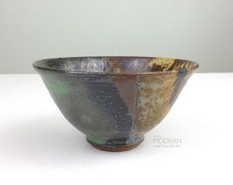 Mid Century Modern Studio Stoneware Signed Pottery Bowl Kradijian