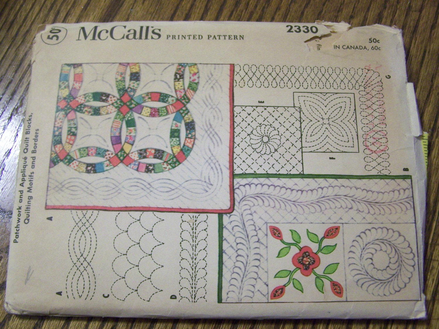 McCalls Pattern 2330 1940s Patchwork and applique by mattegold