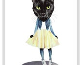 Cat Doll print - A4 print