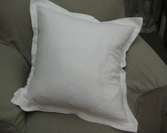 3 Washed Linen Tailored Pillow Shams-Linen Color Options-3 Washed Linen Pillow Covers
