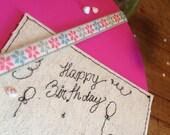 Birthday card Set of 3 single mini cards