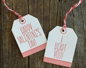 Valentines declaration tags -set of 4