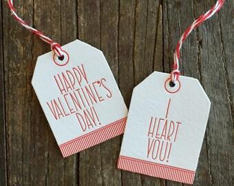 Valentines declaration tags -set of 4