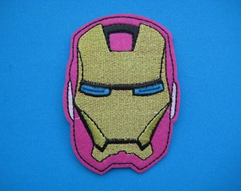 SALE~ Iron-on Embroidered Patch Iron Man 3.25 inch