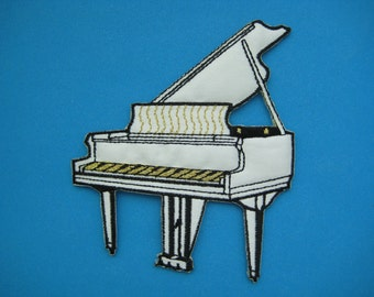 Iron-on Embroidered Patch Piano 4.25 inch