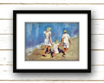Painting Print - Beach Painting Print - Coastal Painting Print - Nautical Painting Print