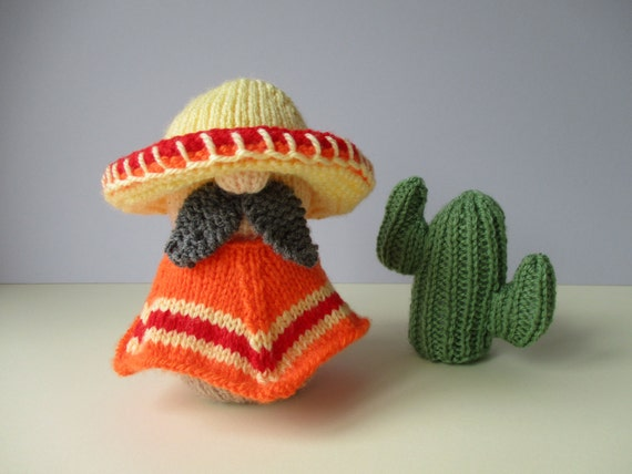 Knitting Patterns For Toys On Etsy : Senor Hector toy knitting patterns