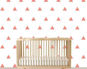 Triangle Vinyl Decals - Aztec Wall Art - Tribal Nursery Decal - Triangle Vinyl - Baby Nursery Decor - Modern Wall Art - Vinyl Decals
