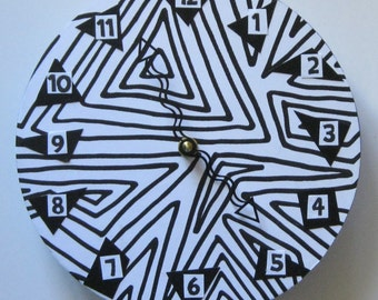 Unique wall clock. The ultimate funky clock.