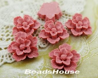 20% OFF - 345-BK-CA  6pcs Beautiful Sakura Cabochons - Dusty Pink