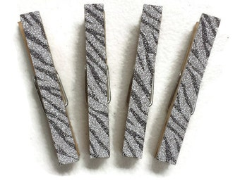 Zebra Print Magnets, Clothespin Magnets