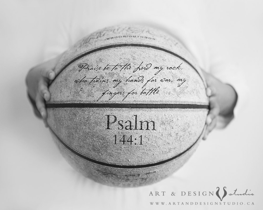 Scripture Quote Basketball Art Personalized Print Custom