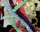 Box pleated satin ribbon sewing trim SURPRISE assortment, many colors available 12 yards special