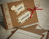 Sweet Nothings Valentine's Note cards - set of 4 with envelopes