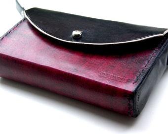 Leather purse - red leather purse - red purse- red bag- leather handbag - red womens bag - red womens purse-