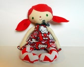 Hello Kitty doll 15 inch boutique doll rag primative Christmas Hannukah