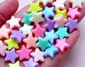 Fairy Kei Bracelet Acrylic Star Beads (14mm / Assorted Candy Color Mix / 30pcs) Plastic Pastel Bead Loose Bead Kawaii Rainbow Necklace F270