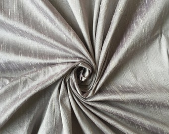 Silver 100% Dupioni Silk Fabric Wholesale Roll/ Bolt
