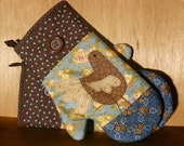 Funky Chicken Oven Mits - Set of Two
