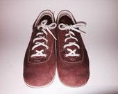 Vintage 1960s 1970s Dexter Bowling Shoes Rust Suede Size 7.5-8