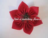 Red Dog Collar Flower, Martingale Collar Flower, Dog Collar Flower, Flower Dog Collar, Fabric Flower, Large Collar Flower
