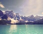 refreshing landscape, mountain photography, rocky mountains, banff national park, wanderlust wall art, inspirational print