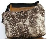 CROSSBODY HOBO BAG - Large Bag - Leopard Print Bag - Oversized Bag - Hobo Bag - Slouch Bag - Crossbody Purse - Crossover Bag - Hippie Bag