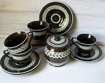 Reduced!  Red Ware Pottery Tea Set / Unusual