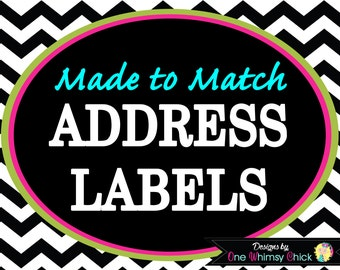 ADDRESS LABELS - Any Theme in Our Store - Fast Turnaround