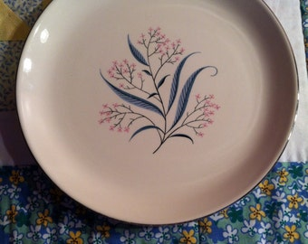 Vintage Dinner Plate Pink Floral Alliance China Regal Made in The USA