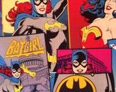 Discontinued / Rare/ Comic Book Fabric / Bat Girl / Girl Power / Wonder Woman Superhero Fabric/ half yard