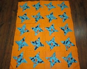 Dinosaur Baby Quilt top- 33x40 inches