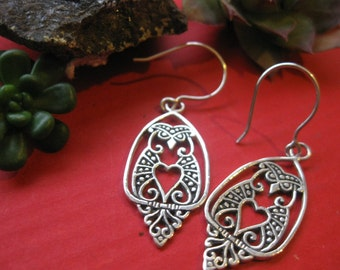 Curious Sterling Silver OWL Earrings!