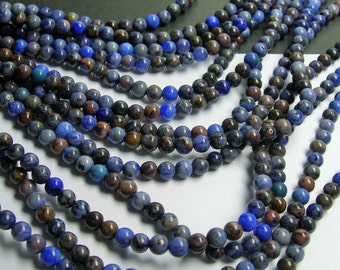 Blue Crazy Lace Agate - 6mm round - 1 full strand - 66 beads - A quality - RFG150