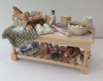 Dolls House Miniatures - 1/12th Bread Makers Preparation Table