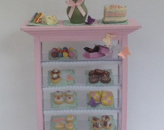 Dolls House Miniatures - Butterfly Patisserie Shelf - NEW SPRING 2015
