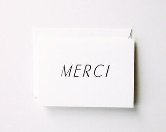 Merci - Letterpress Printed Greeting Card