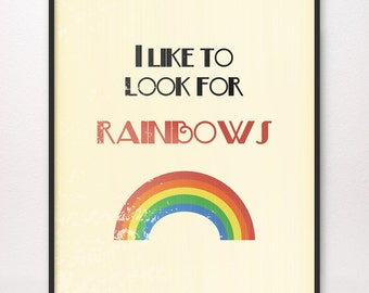 11x14 • I Like to Look for Rainbows • Art Print • Choice of Design • LDS Mormon When I Am Baptized Baptism