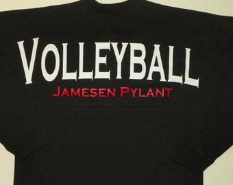 Volleyball Spirit Jersey, Custom Team Spirit Jersey, Oversized Spirit Jersey