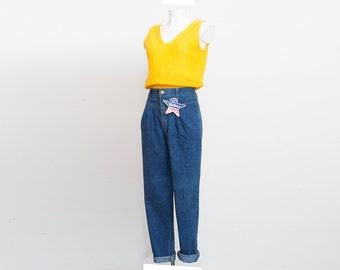 NOS Vintage 90 blue jeans high waist darted jeans